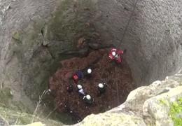 Mountainbiker stürzt in Basaltgrube