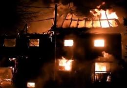 Fachwerkhäuser niedergebrannt