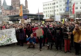Studenten demonstrieren in Mainz