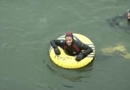 Abschwimmen im Rhein und Narrentanz
