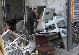 Geldautomat in die Luft gesprengt