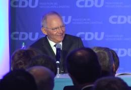 Schäuble redet in Wiesbaden zu Europa