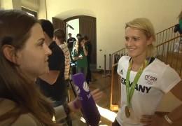 Goldmedaillengewinnerin Saskia Bartusiak