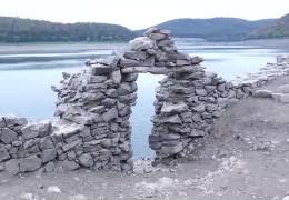 Edersee-Atlantis ist wieder sichtbar