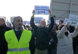 Flughafen Frankfurt – Demo der Piloten trifft auf Gegendemo