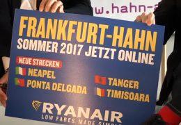 Ryanair stellt Sommerflugplan für den Fluhafen Hahn vor
