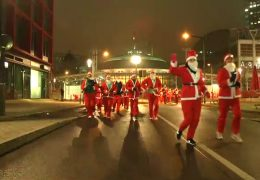Santa-Run in Frankfurt