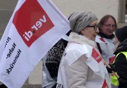 Warnstreiks in Rheinland-Pfalz