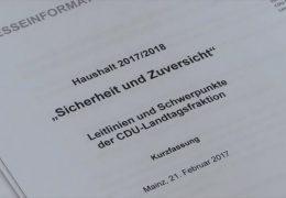CDU legt eigenen Haushaltsentwurf vor