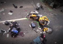 Tote Biker an der Mosel