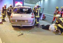 Notfallübung im Hechtsheimer-Tunnel
