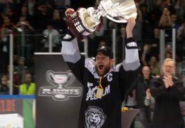 Meisterfeier bei den Eishockey-Löwen
