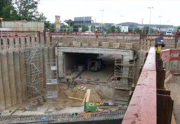 Baustelle 40 Meter unter der Erde