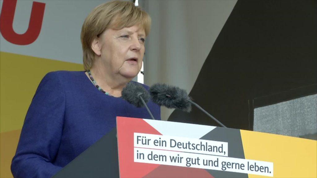 Merkels Wahlkampfauftakt in Gelnhausen