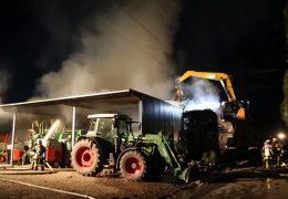 Millionenschaden bei Brand auf Pferdehof