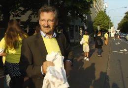 FDP bekämpft Staus im Wahlkampf mit Croissants
