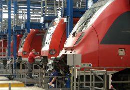 S-Bahn Werkstatt im Frankfurter Depot