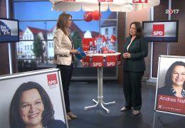 Ihre Wahl 2017: Zu Gast im Studio Andrea Nahles, Bundesarbeitsministerin und rheinland-pfälzische SPD-Spitzenkandidatin