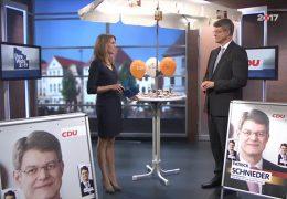Ihre Wahl 2017: Zu Gast im Studio ist Patrick Schnieder, Spitzenkandidat der CDU Rheinland-Pfalz