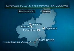 Neue Landräte und Bürgermeister in Rheinland-Pfalz und Hessen