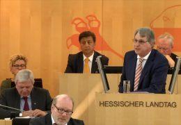 Diskussion über Doppelhaushalt in Hessen