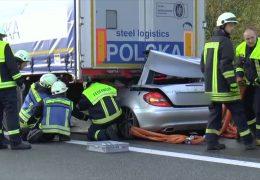 Tödlicher Unfall auf der A60