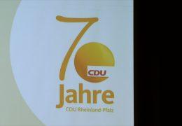 Die CDU in Rheinland-Pfalz feiert ihren 70. Geburtstag