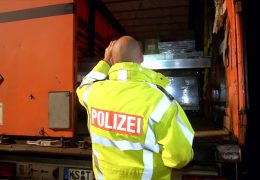 Polizeikontrolle gegen Einbrecherbanden