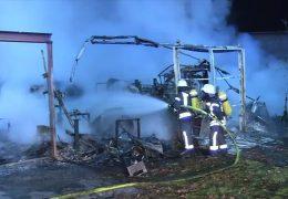 Hoher Sachschaden bei Brand auf Segelflugplatz