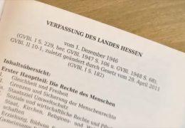 Hessische Verfassung soll erneuert werden
