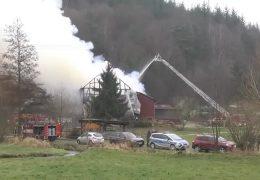 Bundeswehr rettet Kühe aus dem Feuer