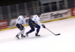 Eiskaltes Derby Löwen contra Huskies