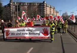 Demo für Respekt gegenüber Rettungskräften
