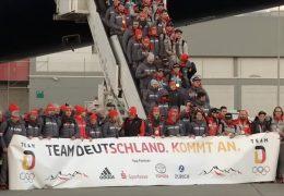 Olympioniken werden in Frankfurt herzlich empfangen