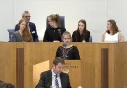 Schüler debattieren im Landtag
