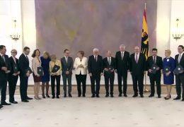 Merkels neues Kabinett mit Hessen und Rheinland-Pfälzern