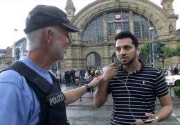 Polizei kontrolliert Fußgänger