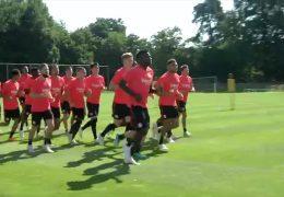 Die Eintracht trainiert wieder in Frankfurt
