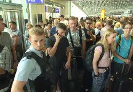 Familie sorgt am Frankfurter Flughafen für Chaos