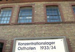 Schüler lernen im KZ Osthofen