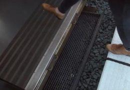 Der so garnicht barrierefreie Bahnsteig in Sulzbachtal
