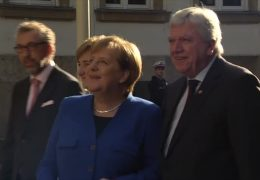 Angela Merkel zu Besuch in Hessen