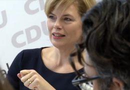Julia Klöckner informiert über Parteitag