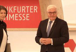Bundespräsident Frank-Walter Steinmeier auf der Buchmesse
