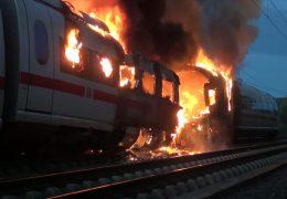 Feuerinferno im ICE zwischen Köln und Frankfurt
