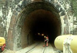 Bahn saniert den Kalmut-Tunnel