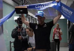 Ironman-Held Patrick Lange zurück in der Heimat