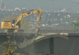 """Das """"Herzstück"""" der Schiersteinerbrücke wird abgerissen"""