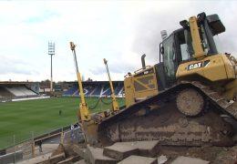 Stadion am Böllenfalltor in Darmstadt wird umgebaut