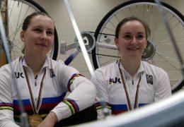 Weltmeisterinnen im Kunstradfahren